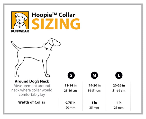 Ruffwear Hoopie Collar Size Guide