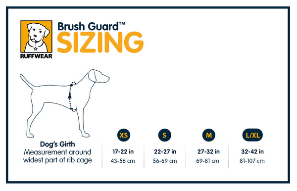Ruffwear Brush Guard Size Guide | Barks & Bunnies