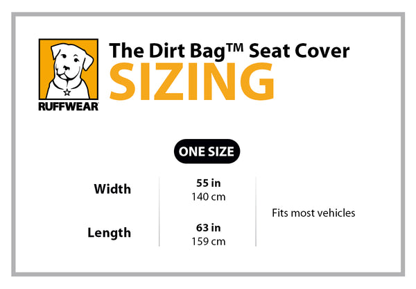 Ruffwear Dirt Bag Seat Cover Size Guide | Barks & Bunnies