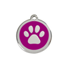 Red Dingo Paw Print Dog Tag, Enamel Pet ID Tag | Barks & Bunnies