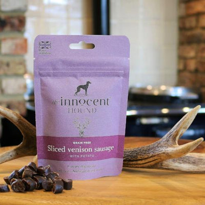 The Innocent Hound Sliced Venison Sausages | Barks & Bunnies