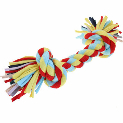 Happy Pet Twist-Tee 2 Knot Tugger Cotton Rope Dog Toy | Barks & Bunnies