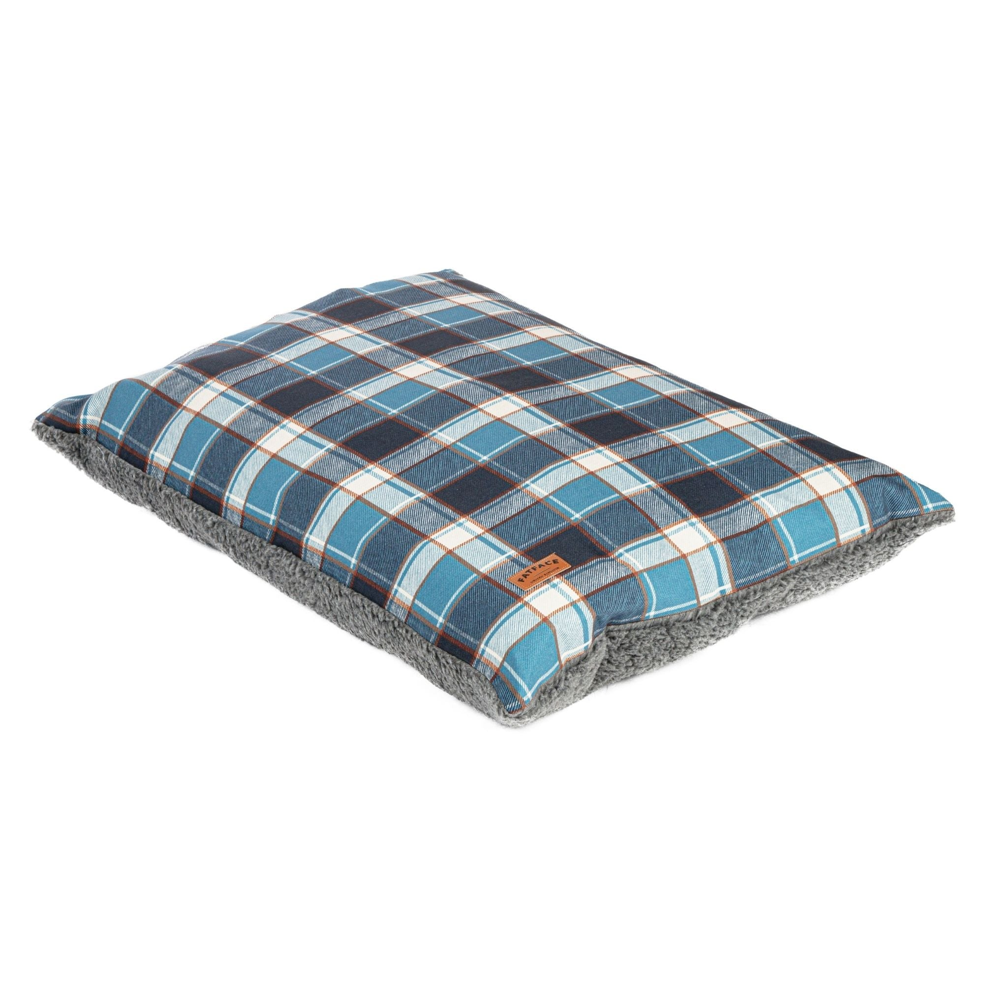 Fat Face Fleece Check Deep Duvet Dog Bed by Danish Design | Barks & Bunnies