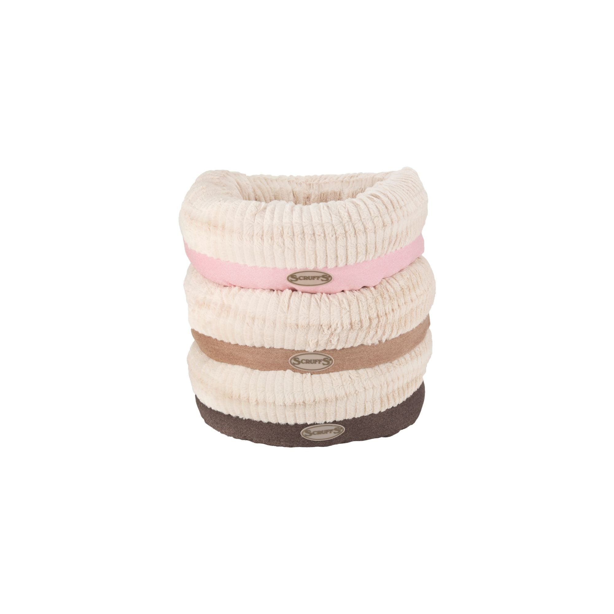 Scruffs Ellen Donut Bed, Round Tweed Dog Bed | Barks & Bunnies