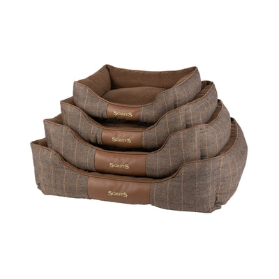 Scruffs Windsor Box Bed Brown, Tweed Dog Bed | Barks & Bunnies
