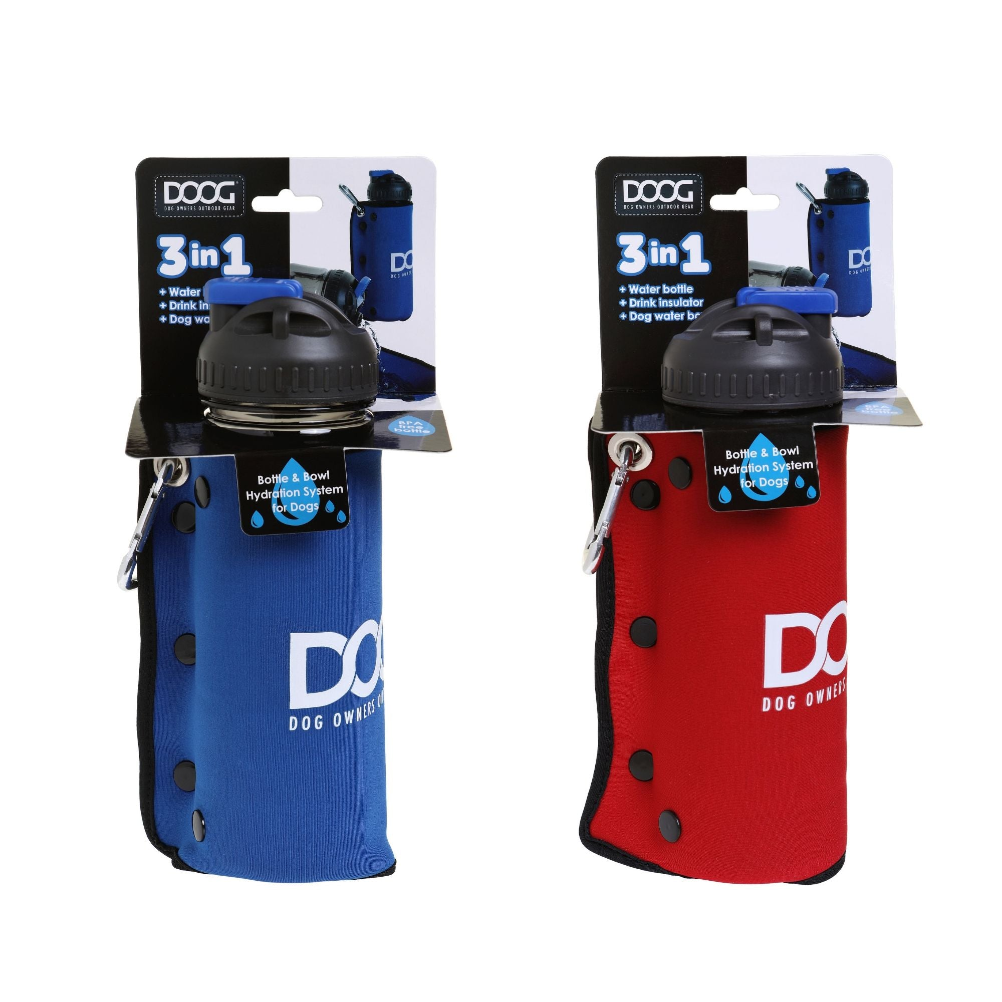 DOOG 3 in 1 Water Bottle & Bowl For Dogs | Barks & Bunnies
