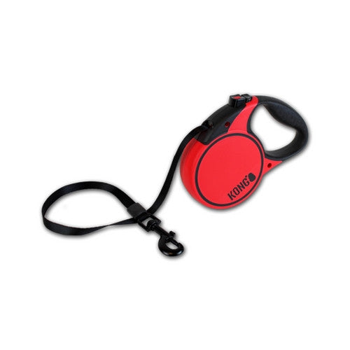 Kong Terrain Retractable Dog Lead Black | Barks & Bunnies