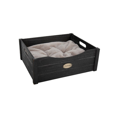 Scruffs Rustic Wooden Bed Black, Extra Small Dog Bed | Barks & Bunnies