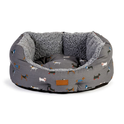 Fat Face Marching Dogs Deluxe Slumber Dog Bed by Danish Design | Barks & Bunnies