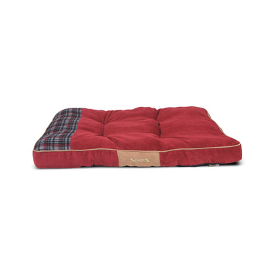 Scruffs Highland Mattress, Red Tartan Pet Dog Bed | Barks & Bunnies