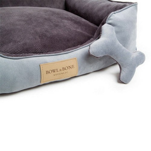 Bowl & Bone Republic Classic Bed Grey, Dog Bed | Barks & Bunnies