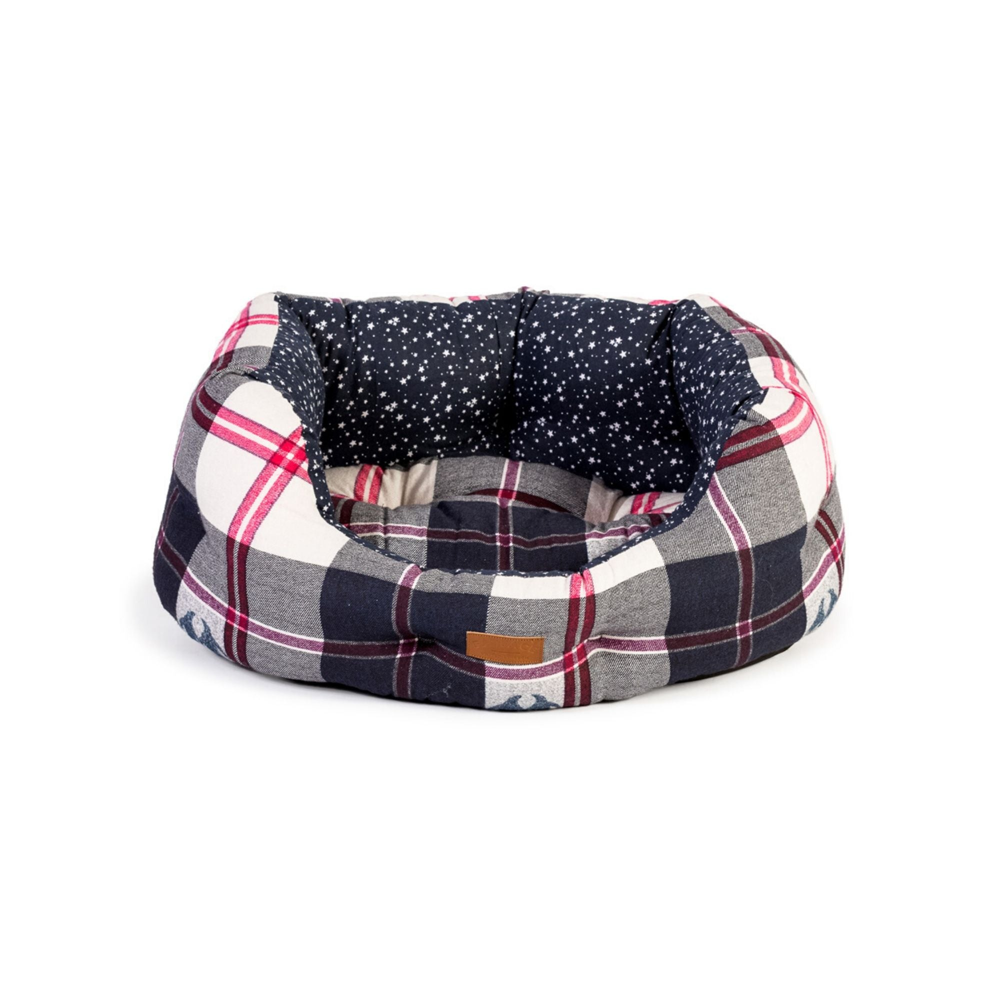 Fat Face Penguin Check Deluxe Slumber Dog Bed by Danish Design | Barks & Bunnies