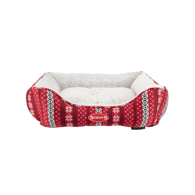 Scruffs Santa Paws Box Bed, Christmas Dog Bed | Barks & Bunnies