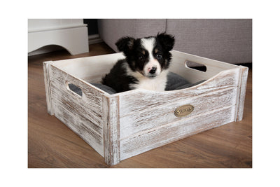 Scruffs Rustic Wooden Bed, Extra Small Dog Bed | Barks & Bunnies