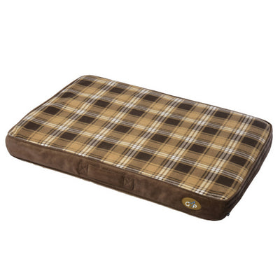 Gor Pets Essence Lounger Brown Check, Dog Bed | Barks & Bunnies