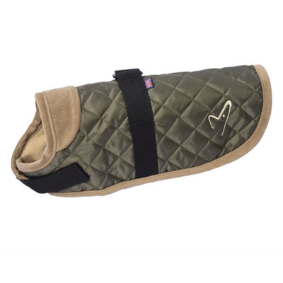 Gor Pets Worcester Dog Coat Green, Quilted Winter Dog Coat | Barks & Bunnies