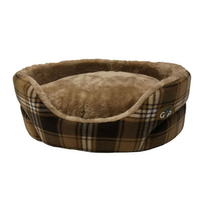 Gor Pets Essence Bed Brown check, Luxury Dog Bed | Barks & Bunnies