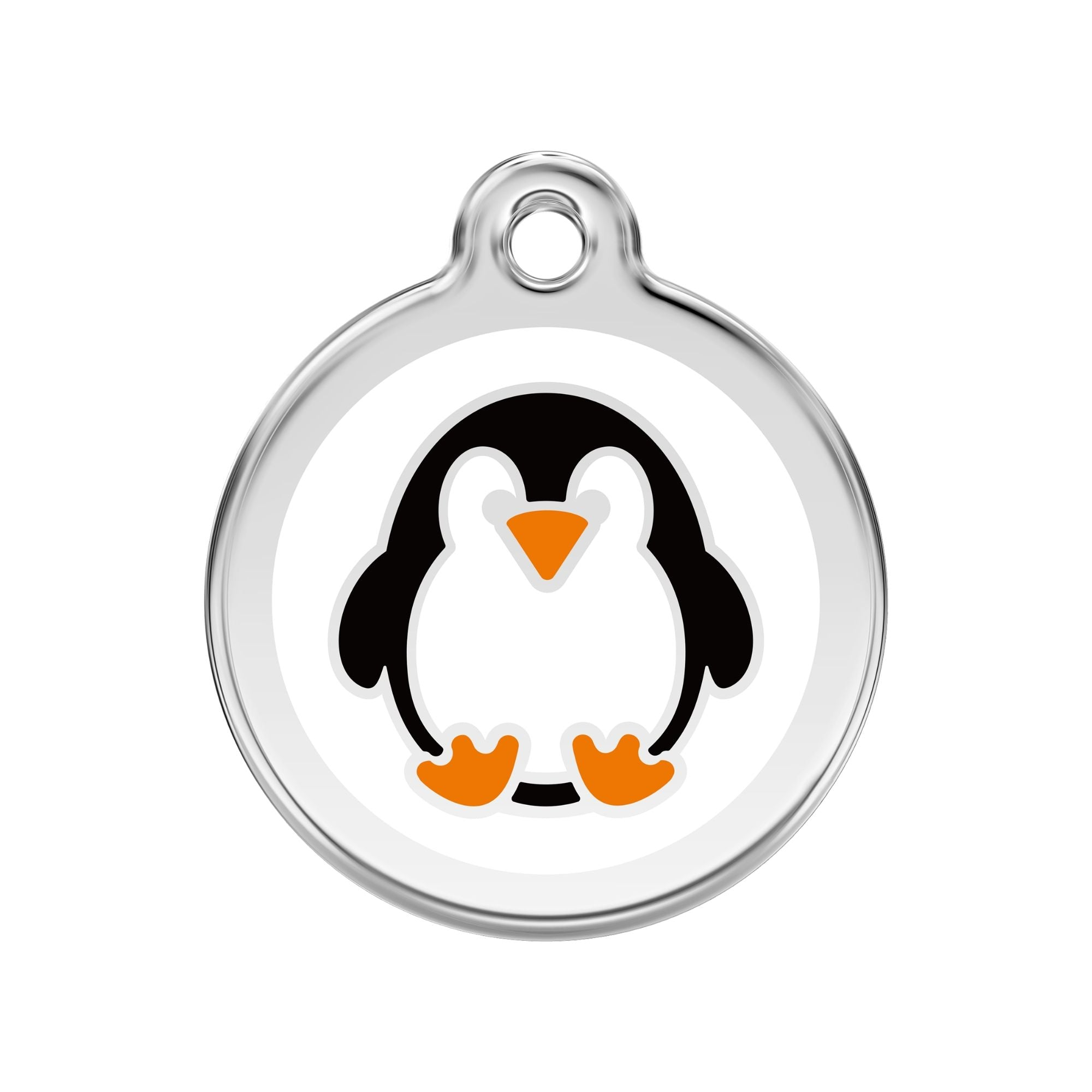 Red Dingo Penguin Dog Tag, Enamel & Stainless Steel | Barks & Bunnies