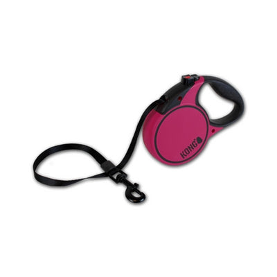 Kong Terrain Retractable Dog Lead Fuschia | Barks & Bunnies