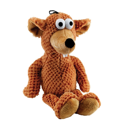 Gor Pets Goofy Dog Toy Brown Bear, Super Soft, Plush Dog Toy | Barks & Bunnies