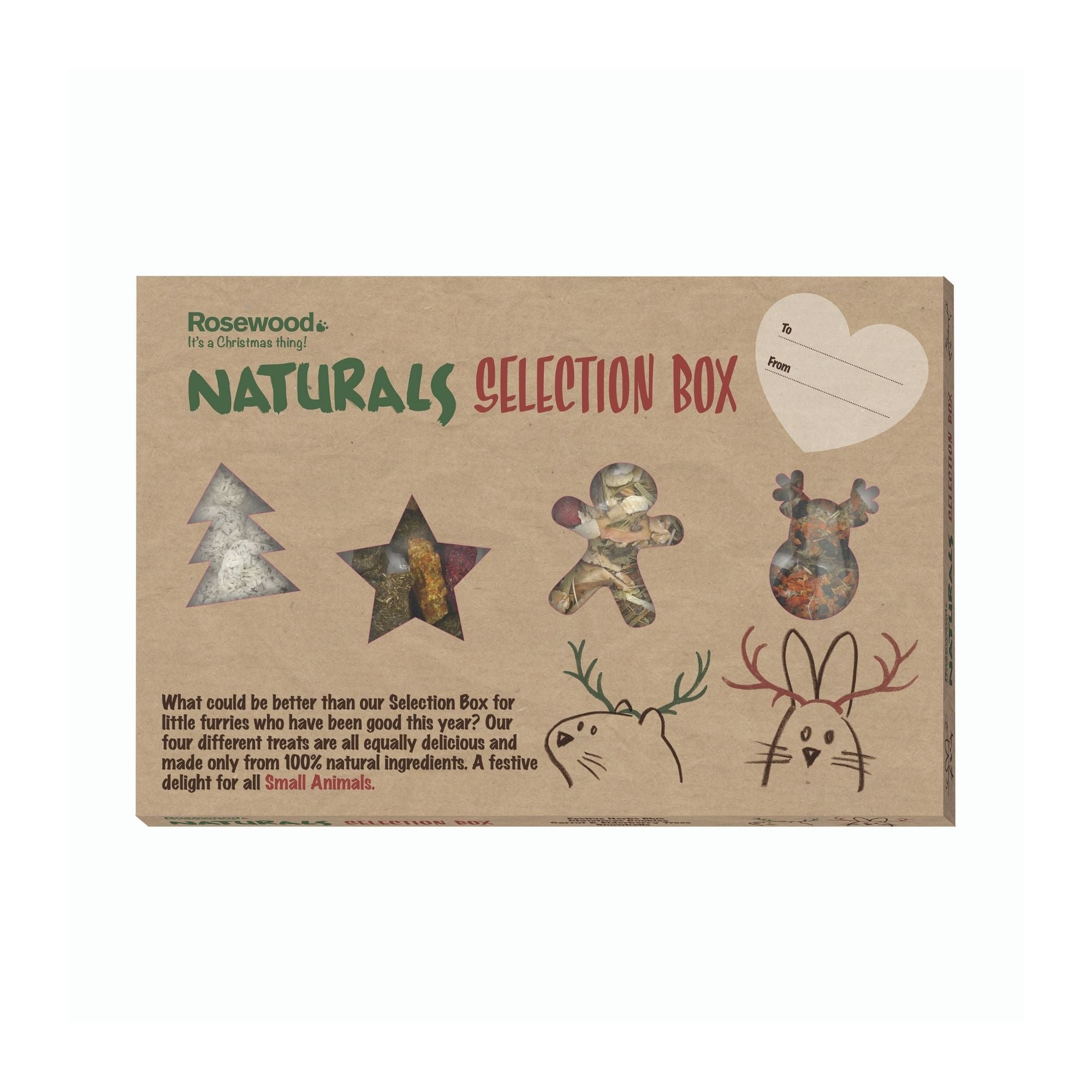 Rosewood Naturals Selection Box Christmas Gift For Rabbits | Barks & Bunnies