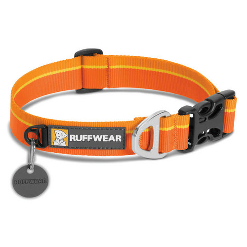 Ruffwear Hoopie Collar Orange Sunset 2017, Plain Dog Collar UK | Barks & Bunnies