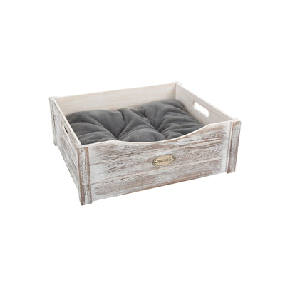 Scruffs Rustic Wooden Bed Grey, Extra Small Dog Bed | Barks & Bunnies