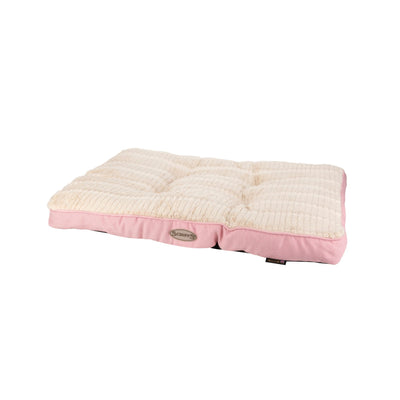 Scruffs Ellen Mattress Pet Bed Pink, Warm Tweed Dog Bed | Barks & Bunnies