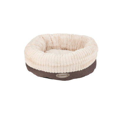 Scruffs Ellen Donut Bed Grey, Round Tweed Dog Bed | Barks & Bunnies