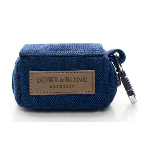 Bowl & Bone Republic MINI Navy Blue, Dog Poop Bag Dispenser | Barks & Bunnies