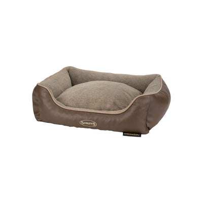 Scruffs Chateau Brown Orthopedic Box Bed, Memory Foam Dog Bed | Barks & Bunnies