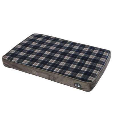 Gor Pets Essence Lounger Grey Check, Dog Bed | Barks & Bunnies