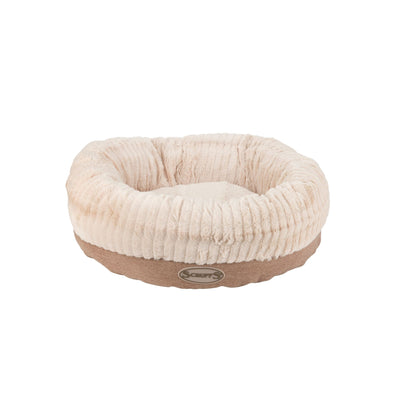 Scruffs Ellen Donut Bed Tan, Round Tweed Dog Bed | Barks & Bunnies