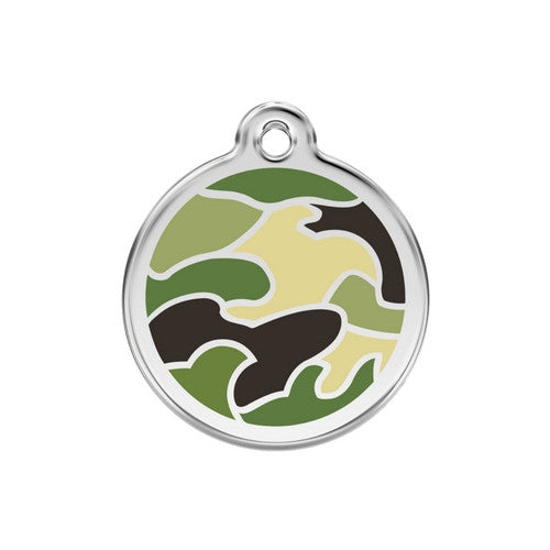 Red Dingo Camouflage Dog ID Tag, Enamel Pet Tag UK | Barks & Bunnies