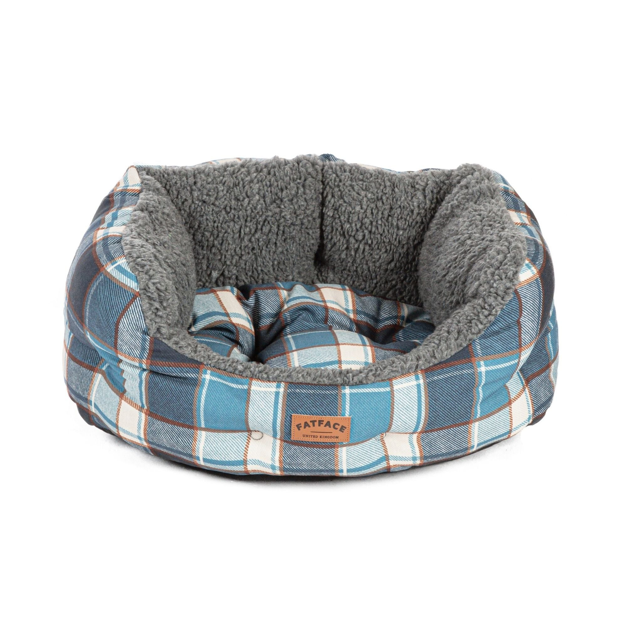 Fat Face Fleece Check Dogs Deluxe Slumber Dog Bed by Danish Design | Barks & Bunnies