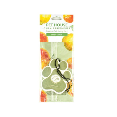 One Fur All Car Air Freshener Fresh Citrus, Pet Friendly | Barks & Bunnies