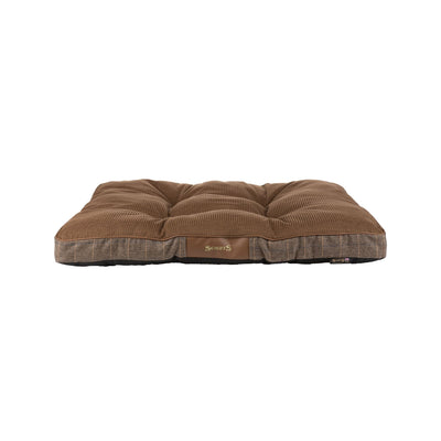 Scruffs Windsor Mattress Brown, Tweed Dog Bed | Barks & Bunnies
