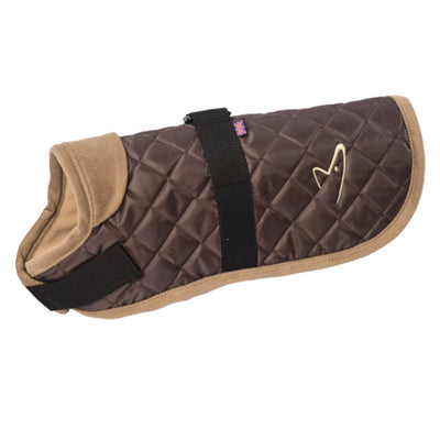 Gor Pets Worcester Dog Coat Brown, Quilted Winter Dog Coat | Barks & Bunnies