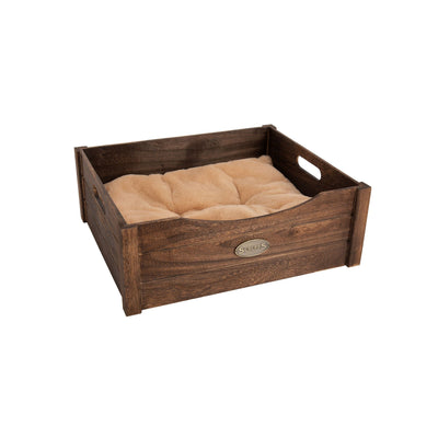 Scruffs Rustic Wooden Bed Brown, Extra Small Dog Bed | Barks & Bunnies
