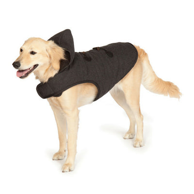Danish Design Duffle Dog Coat in Black, Winter Coat | Barks & Bunnies