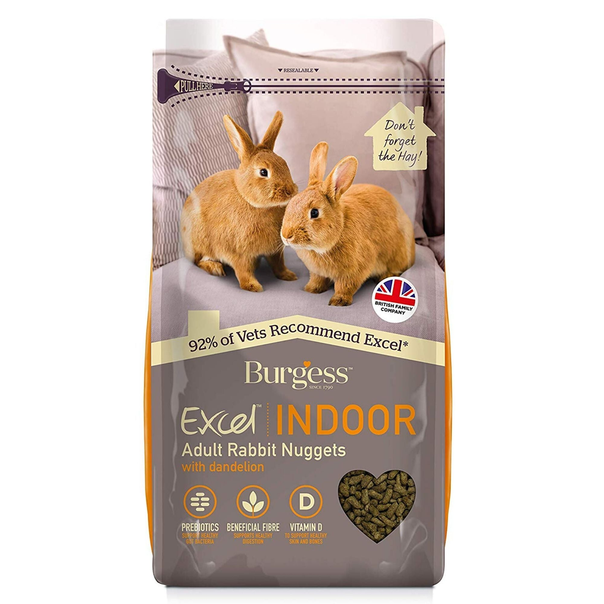 Burgess Excel Indoor Rabbit Food 1.5kg | Barks & Bunnies