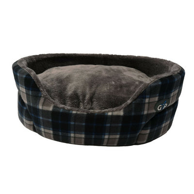 Gor Pets Essence Bed Grey Check, Luxury Dog Bed | Barks & Bunnies