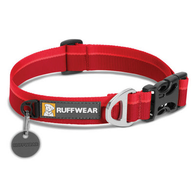 Ruffwear Hoopie Collar Red Currant 2017, Plain Dog Collar UK | Barks & Bunnies