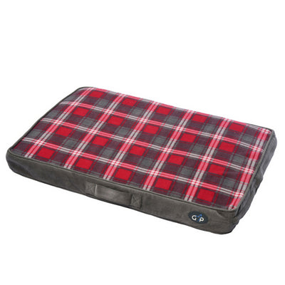 Gor Pets Essence Lounger Red Check, Dog Bed | Barks & Bunnies