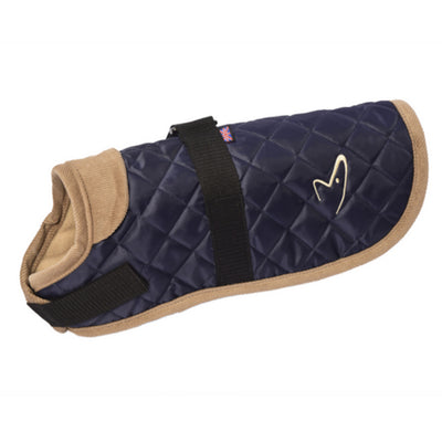 Gor Pets Worcester Dog Coat Navy, Quilted Winter Dog Coat | Barks & Bunnies