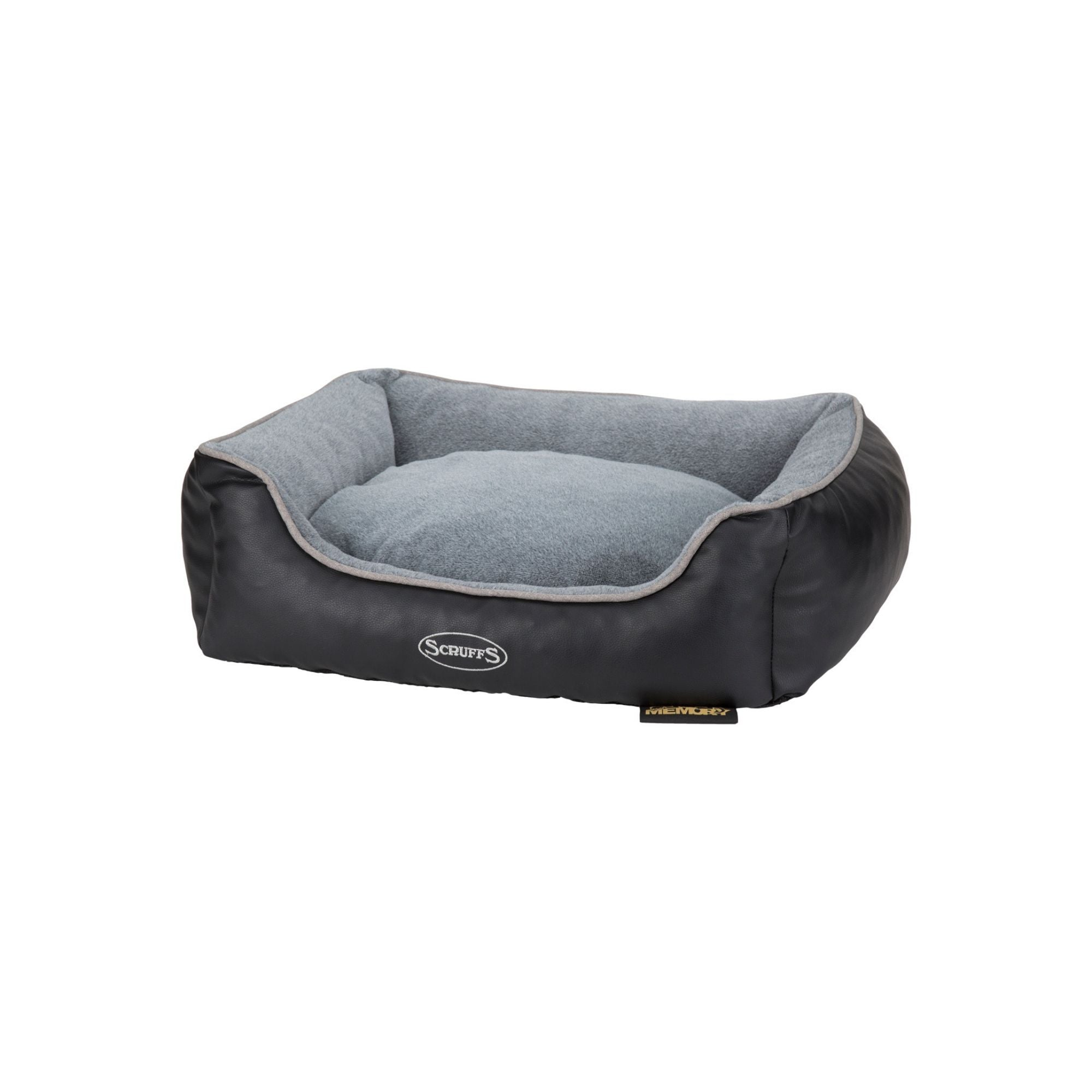Scruffs Chateau Grey Orthopedic Box Bed, Memory Foam Dog Bed | Barks & Bunnies