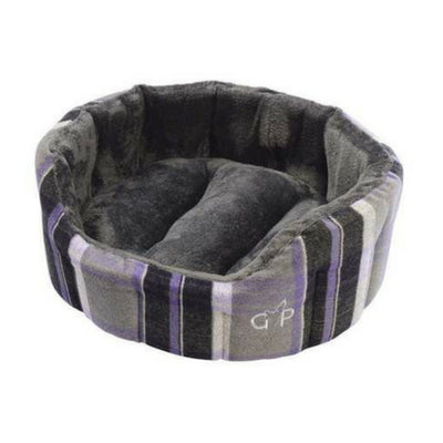 Gor Pets Camden Deluxe Bed Purple Check, Luxury Dog Bed | Barks & Bunnies