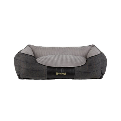Scruffs Windsor Box Bed Grey, Tweed Dog Bed | Barks & Bunnies