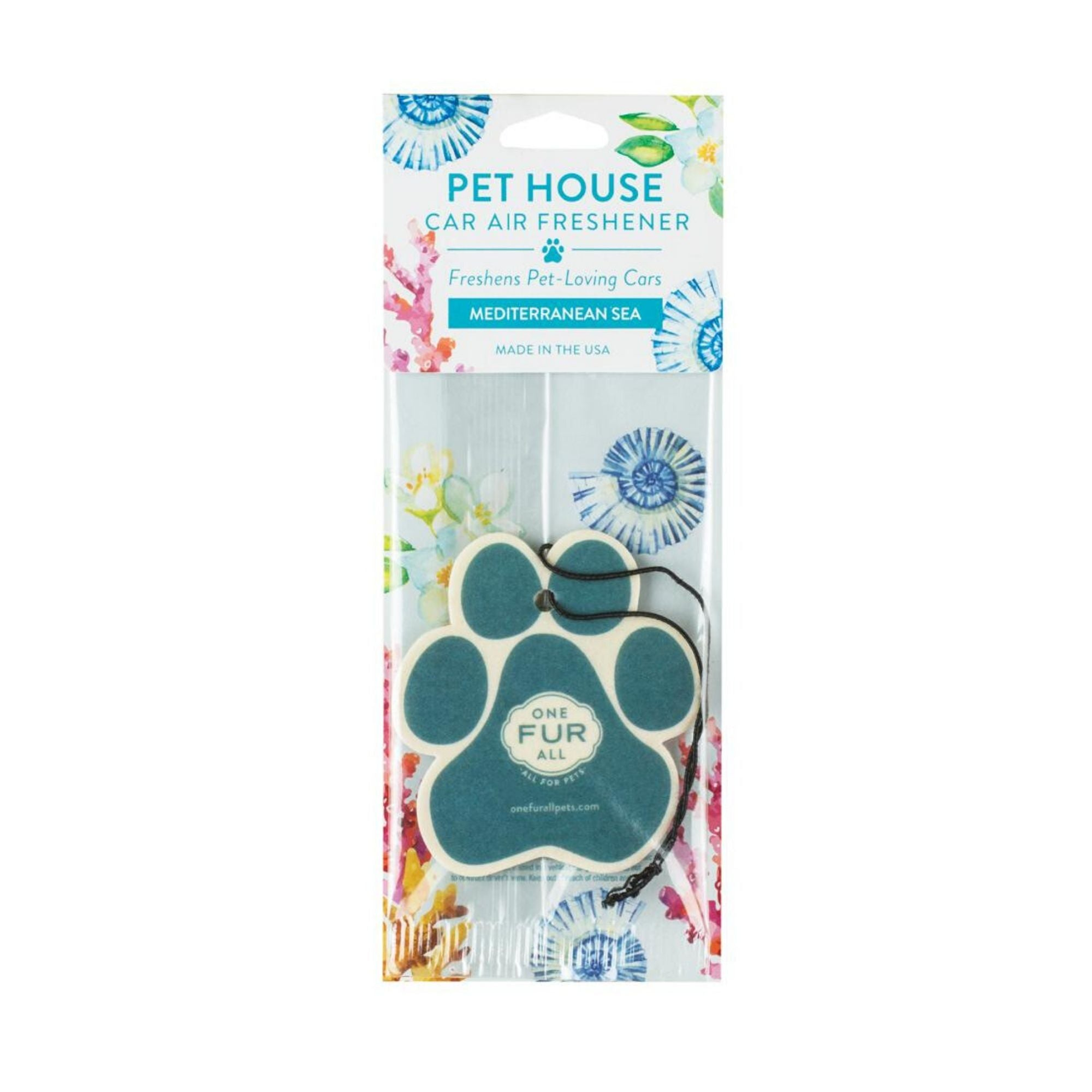 One Fur All Car Air Freshener Bamboo Watermint, Pet Friendly | Barks & Bunnies