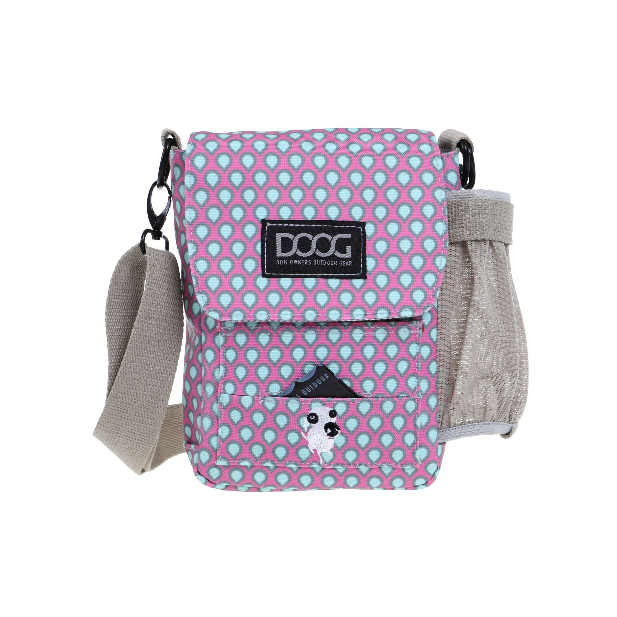 DOOG Walkie Bag Pink, Cross Body Dog Walking Bag | Barks & Bunnies
